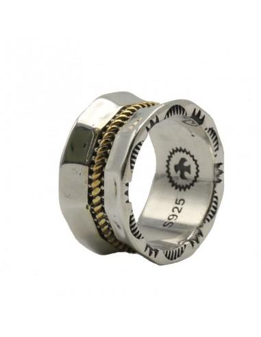 Vintage estilo indio anillo de banda...