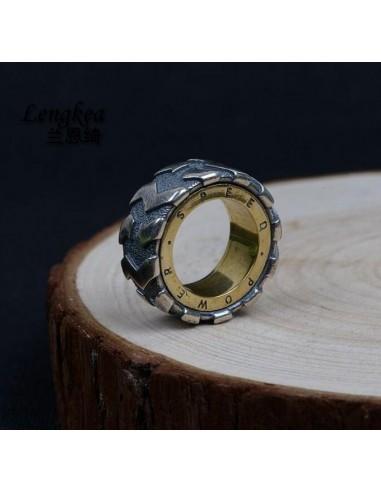 Lengkea joyería hombres anillos Real...