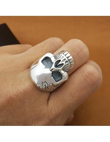 Anillo Flowered Skull